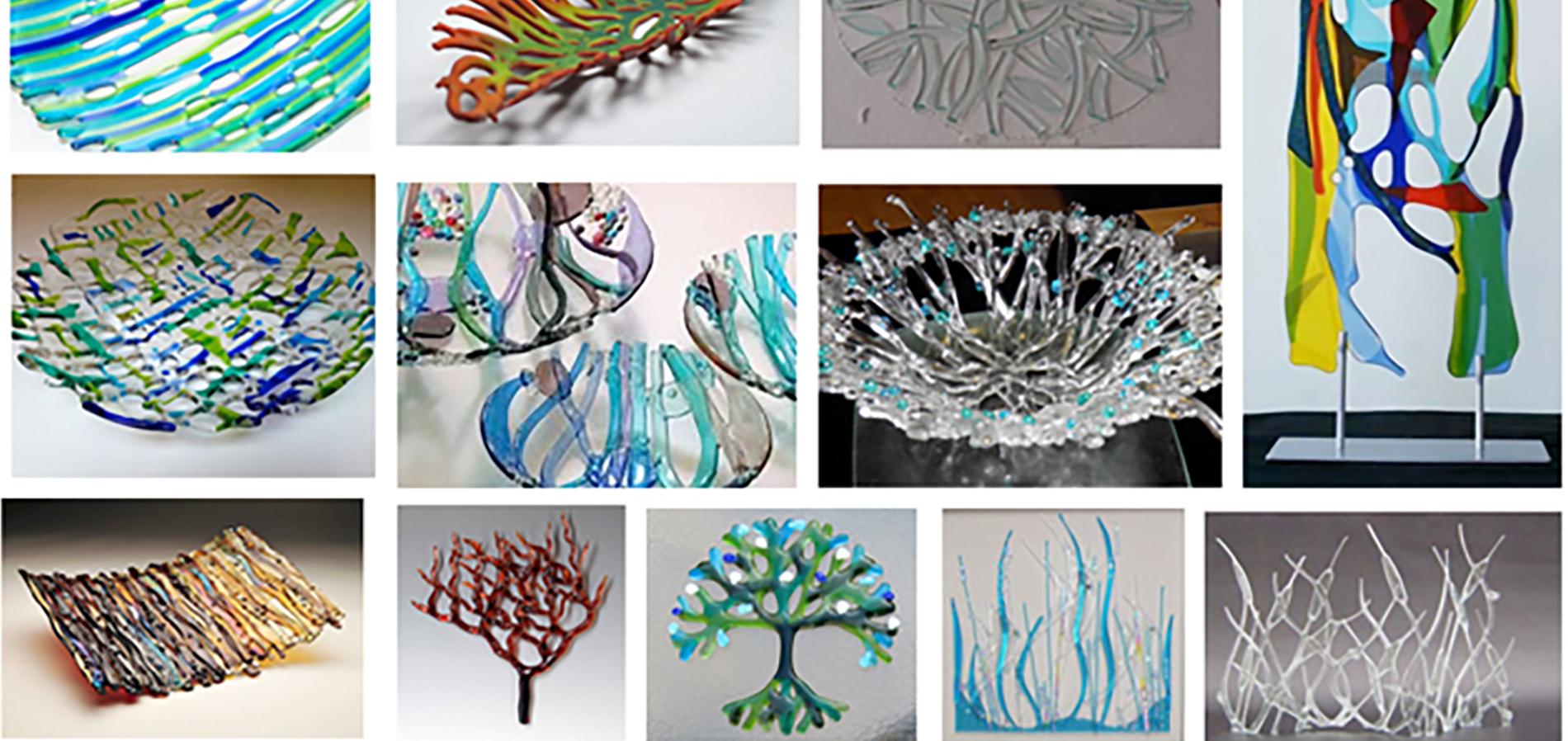 Open Woven Glass Art
