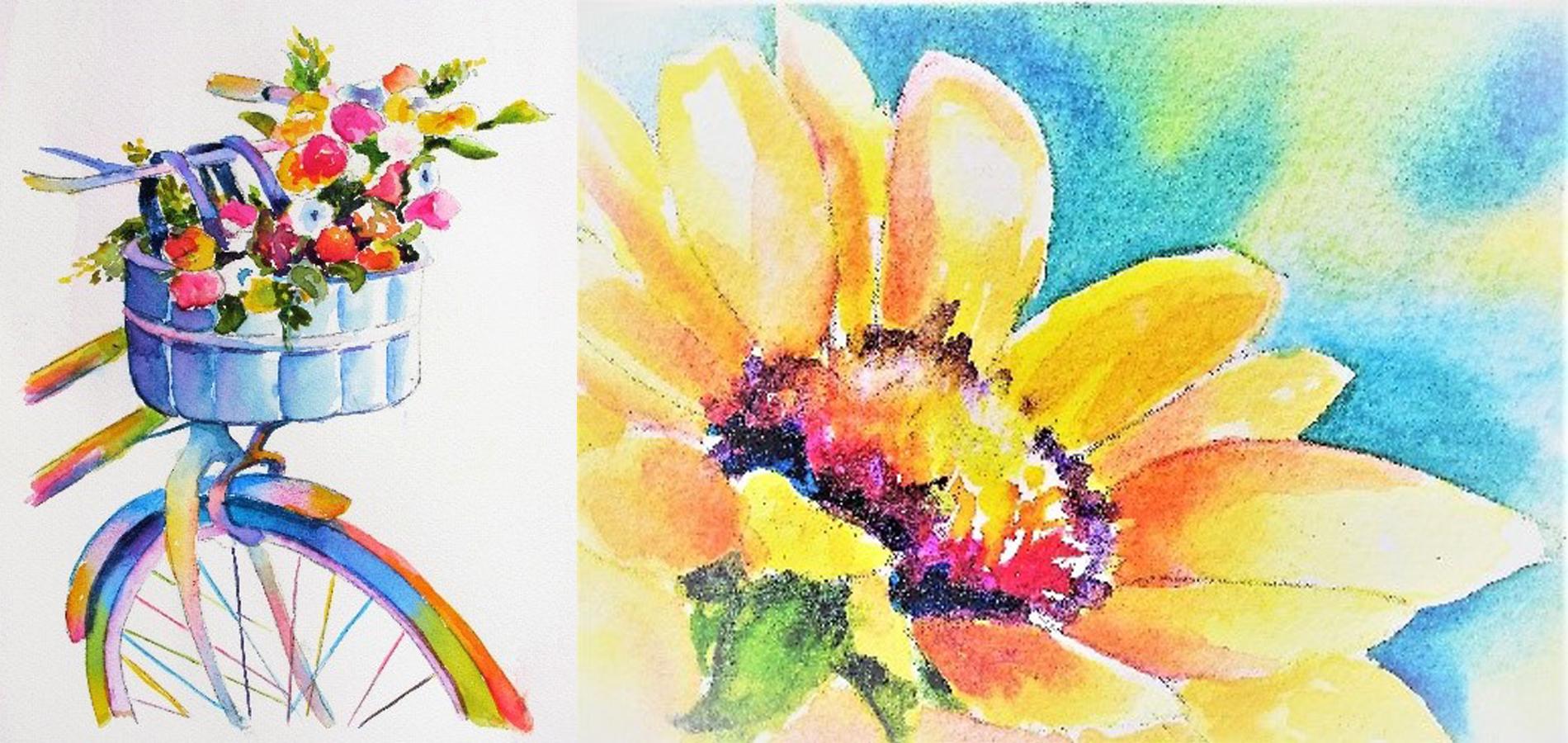 Watercolor Spring Greeting Card