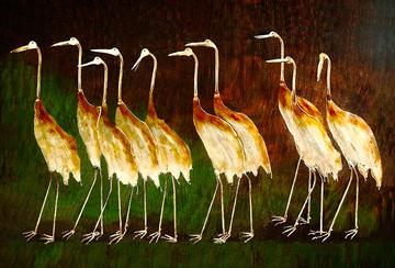 Cranes On A Walk