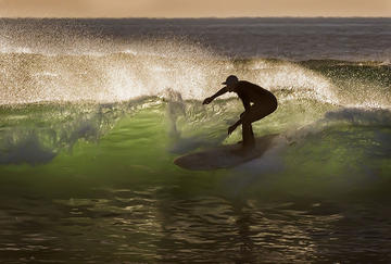 Back-lit Surfer