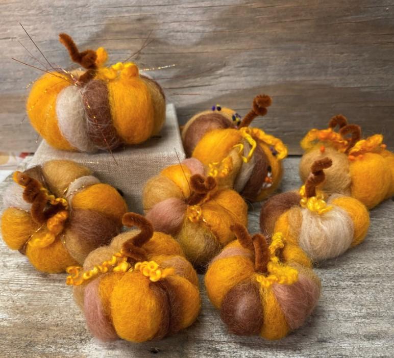 Hughes-Pumpkin Felting 3
