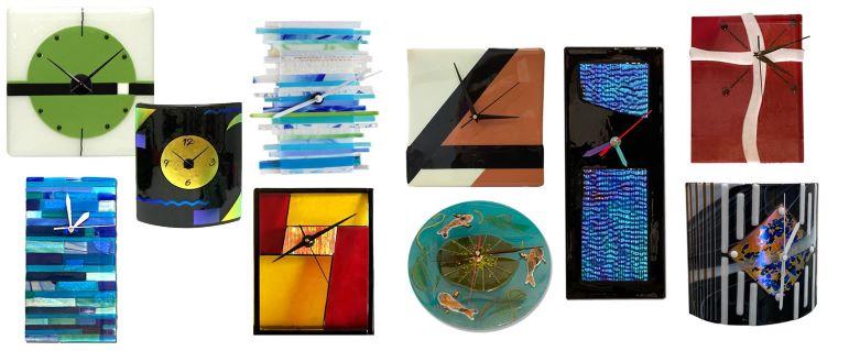 Fused Glass Clocks