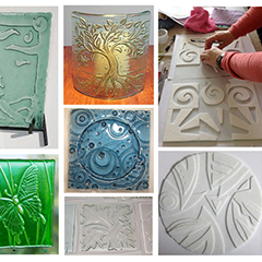 Bas Relief in Glass