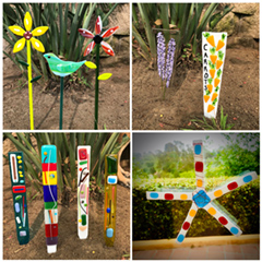 Garden Sticks and Suncatchers