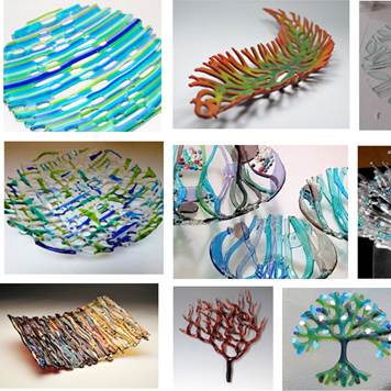 Open Woven Glass Art