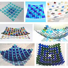 """Be Square"" Openwork Woven Glass"