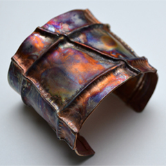 Copper Fold Form Cuff