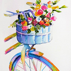 Watercolor Spring Greeting Card