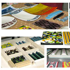 Pattern Bars... Fused Glass Plate (Two Session Class)