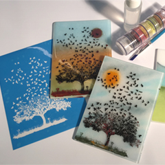 Etched Imagery with Fusible Enamels and Glass Powder