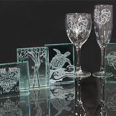 Glass Etching Paperweights, Glassware & Gifts (Session 1)