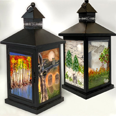 4 Panel Glass Lanterns