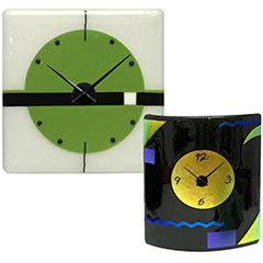 Fused Glass Wall Clocks