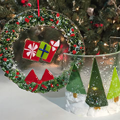 Glass Holiday Decor