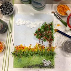 Painting with Glass Frit and Powders