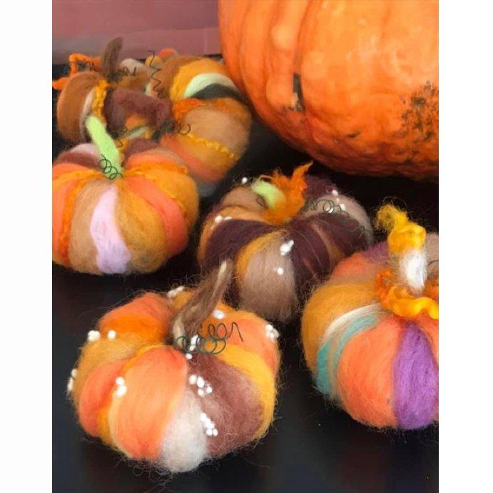 Pumpkin Harvest Needle Felting Workshop - NEW SCHEDULE