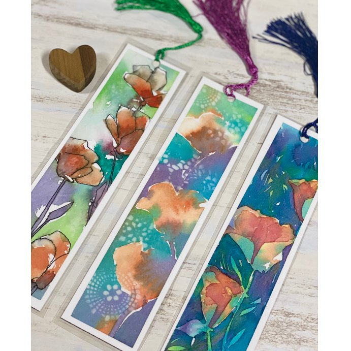 Painting Poppies (Bookmarks)