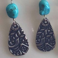 Silver Metal Clay Earrings