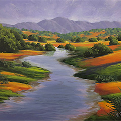 Painting Bold Landscapes in Acrylic