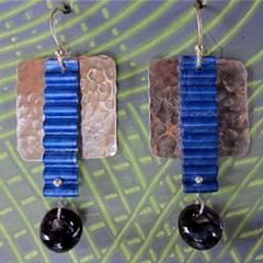 Colored & Textured Metal Earrings