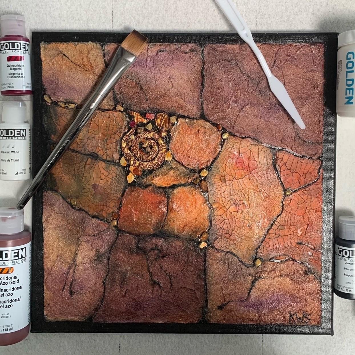 Geologic Acrylic Painting